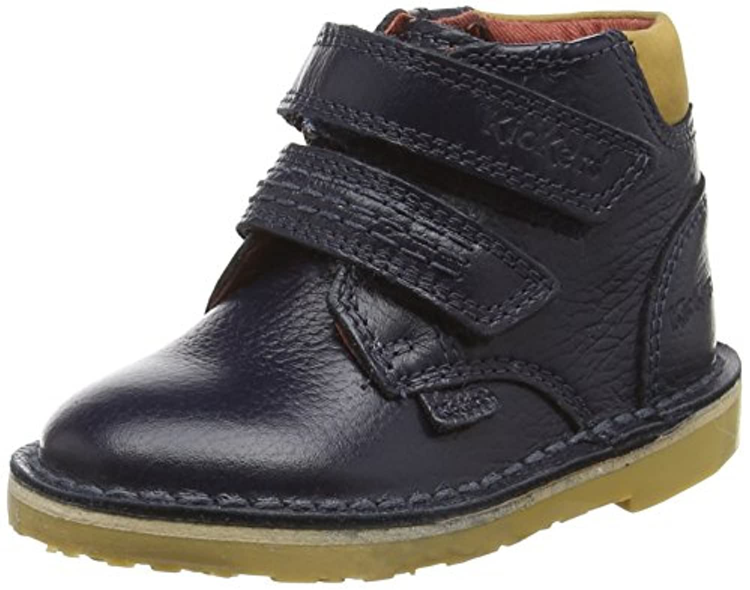 Kickers Boys' Adlar Twin Ankle Boots, Blue (Dark Blue), 8 Child UK 25 EU