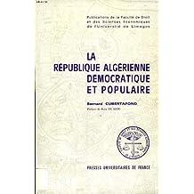 La republique algerienne democratique et populaire