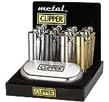 Sale. Clipper Micro Metal Plata Mechero de Acero en Caja de Regalo