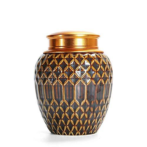 KLSJJ Wunderschöne Keramik Einäscherung - für Haustiere oder menschliche Asche - Versiegeln Sie Ihre Liebe für Immer (Color : A)