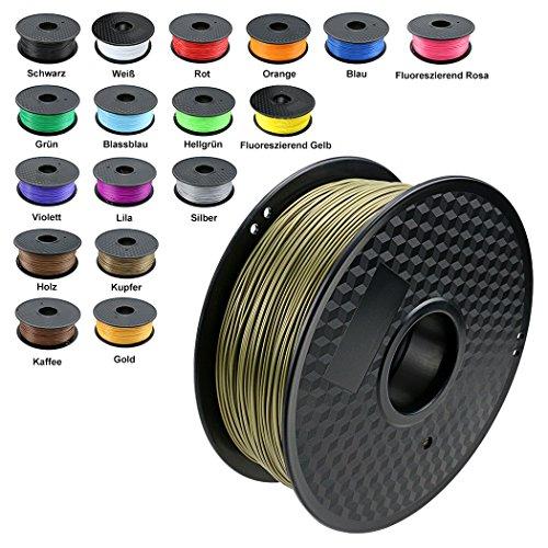 TIANSE Bronze 3D PLA Filament 1,75 mm für 3D Drucker 1 kg, Dimensionsgenauigkeit +/- 0,03 mm MEHRWEG - Bronze, Beton