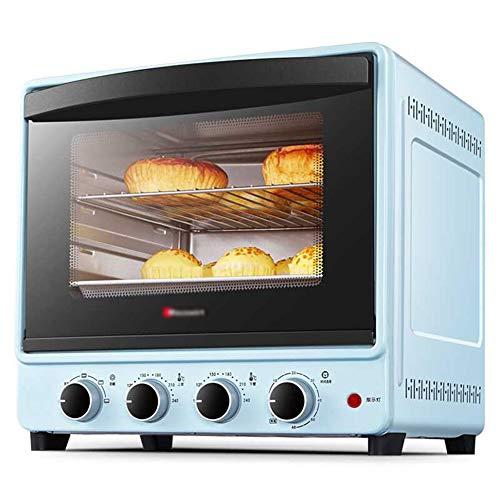 Vertikaler Aufsatzbackofen, Toast- / GäRfunktion, Doppelt Isolierte TüR, FassungsvermöGen 30 L, 6-Zoll-Chiffon-Kuchen / 10-Zoll-Pizza, Blau