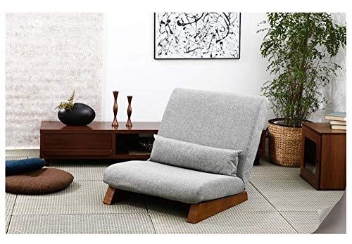 Extra Breite Verstellbare Sofa (LYQZ Extra breite Tatami Lazy Couch Klappstuhl Balkon Schlafzimmer Nickerchen Pause Sitzsack Komfortable Liege 58 × 112 cm (Color : Light Gray))