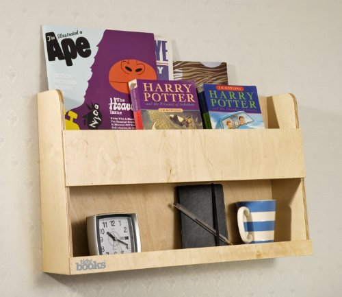 Tidy Books � -The Original Bunk Bed Buddy™, Bunk Bed  Shelf in Natural. - Floating Shelves for Kids Storage next to Bunk Beds and Cabin Beds - Wooden Shelves - 33 x 53 x 12cm