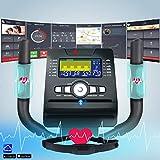 AsVIVA Crosstrainer & Ergometer C26 mit App Bluetooth Konsole | 14kg Schwungmasse, Riemenantrieb – inkl. Fitnesscomputer – Handpulssensoren und Pulsempfänger (inklusive Brustgurt) | Ergometer schwarz - 3
