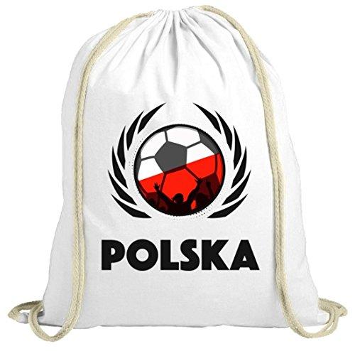Polska Poland Soccer Fussball WM Fanfest Gruppen Fan natur Turnbeutel Gym Bag Fußball Polen weiß natur