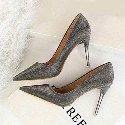 b40724b4b3 XINJING-S Fashion High Heels Schuhe Party Hochzeit Frauen Pumps Heels OL  Kleidung Schuhe GWS