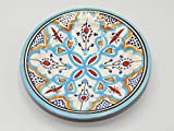 Marokkanischer Keramik Teller Metall Deko Orient Kunsthandwerk Marokko, ø 20 cm