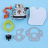 AiCheaX Tools - Carburatore Carburatore Filtro dell'Aria Primer Lampadina Kit Linea Carburante per McCulloch CS380 CS340 CS 340 380 Leva dell'interruttore della Motosega