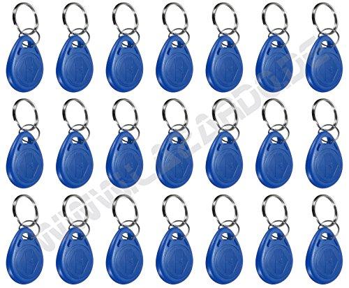 50 St. RFID Transponder Türzutrittskontrolle Zugangskontrolle Chip blau Schlüsselanhänger