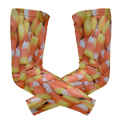 Halloween Arm Ärmel UV-Schutz für Männer Frauen Sonnencreme Schutz Handschuhe Running Golf Fahrrad fahren lang Arm, 1Paar ()