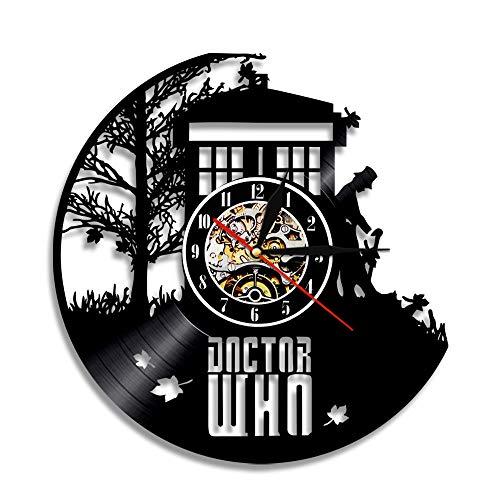 YUN Clock@ Doctor Who Wanduhr aus Vinyl Schallplattenuhr Upcycling Design-Uhr Wand-Deko Vintage Familien Zimmer Dekoration Kunst Geschenk, Durchmesser 30 cm