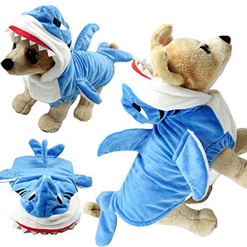 Hund Katze Winter Warme Mantel Jacke Kleidung Kostüm Bekleidung, Fantastische Kostüm Halloween Hai Coslay Kostüm Party, (Katze Hunde Hai Kostüm)
