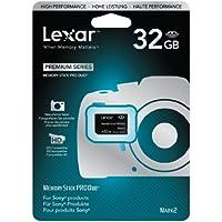 Lexar Carte Mémoire Memory Stick 32 Go Pro Duo Small Blister Noir Mark 2 LMSPD32GBBEU