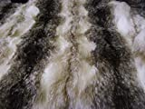 CRS Fur Fabrics Piel sintética Animal Tela Material marrón y Blanco Wolf