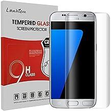 Samsung Galaxy S7 Edge Protector de Pantalla, Lanhiem Cristal Templado [Caso amistoso] Cobertura Completa, Anti-Burbuja, Anti-Scratch, Fácil Instalación - 3D Curvo Protector de Pantalla para Galaxy S7 Edge -transparente