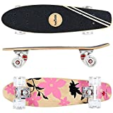 FunTomia Mini-Board Cruiser Skateboard 57cm aus 7-lagigem kanadischem Ahornholz inkl.