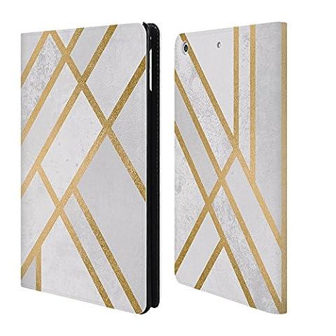 Officiel Elisabeth Fredriksson Géométrie 2 Collection D'art Déco Étui Coque De Livre En Cuir Pour Apple iPad mini 4