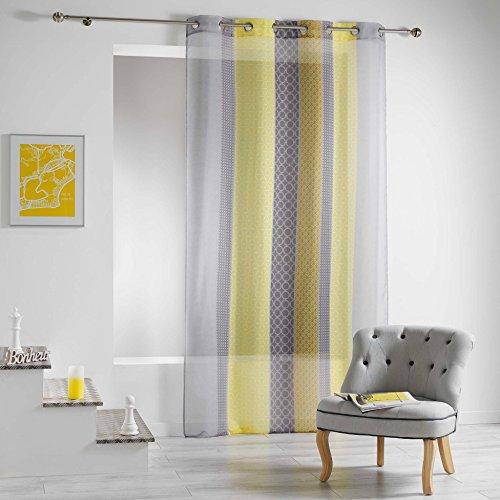 Douceur d'intérieur - tenda a pannello galliance, con occhielli, in poliestere, poliestere, giallo, 240x140 cm