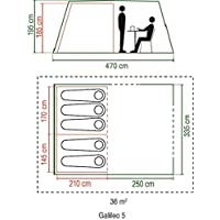 Coleman Waterproof Galileo Unisex Outdoor Tunnel Tent 15