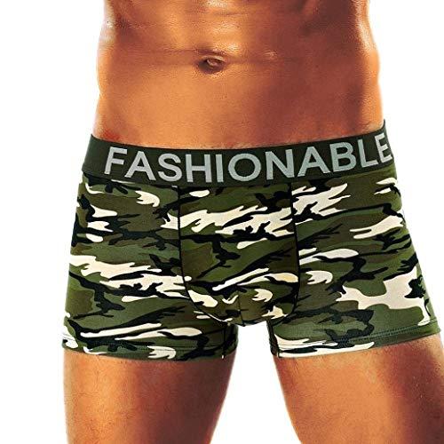 Herren Plus Size Tarn Boxershorts Camouflage Weichen Herren Unikat Style Baumwolle Unterhose Buchstabe Boxershort Panty (Color : C, Size : L)
