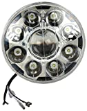 #8: Autofy 9 LED Round Headlight for Royal Enfield Bullet Standard, Royal Enfield Bullet Classic, Royal Enfield Bullet Electra