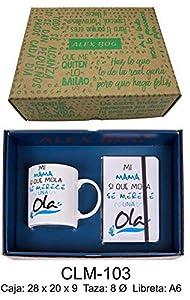 Roymart- Conjunto libreta y Taza mug con Mensaje,mi Mama si Que Mola Sets de Material Escolar (RM 1)