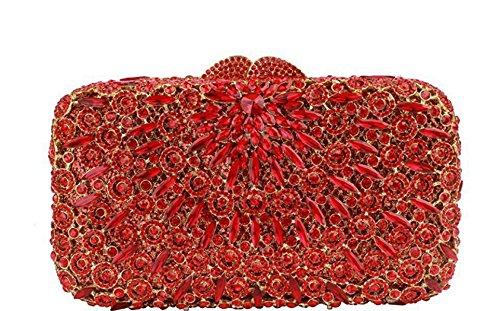 GSHGA Sacchetti Di Sera Delle Borse Della Frizione Delle Donne Sacchetto Di Lusso Della Borsa Della Borsa Della Festa Nuziale Del Sacchetto Del Sacchetto Del Diamante Sacchetto Completo Della Catena D Picture3