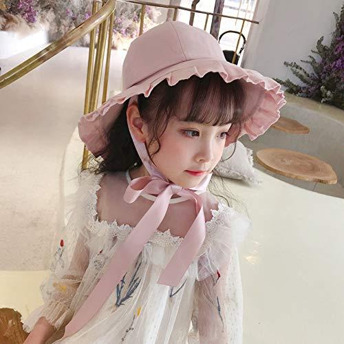 Papa Urlaub Kostüm Auf - mlpnko Sonnenschutz Fischerhut Mädchen Sonnencreme breiter Sonnenhut gekräuselte Reisekappe Sonnencreme pink 53cm