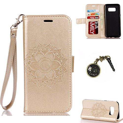 Galaxy S8 Plus Case Leder Tasche Case Hülle im Bookstyle mit Standfunktion Kartenfächer für (Samsung Galaxy S8+ / S8 Plus (6,2 Zoll) Hülle +Staubstecker #P (5)
