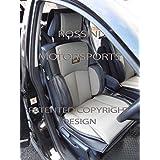 Me–para adaptarse a un Nissan Terrano 2coche, YS03negro/gris, Recaro deportes fundas de asiento