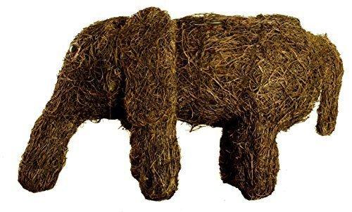 Animal-Vasi per piante, in Rattan, colore: marrone scuro, per vasi da giardino