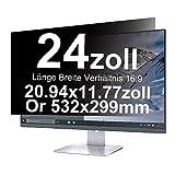 Xianan 24 Zoll Widescreen 16:9 Displayfilter Blickschutzfilter Blickschutzfolie Blickschutz Sichtschutz 20.94 * 11.77in/532 * 299mm