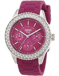 Esprit Damen-Armbanduhr marin glints Analog Quarz Silikon ES106222006