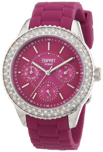 Esprit ES106222006 - Reloj analógico de cuarzo para mujer con correa de silicona, color beige