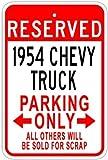 Best Chevy Trucks - 1954 54 CHEVY TRUCK Aluminum Parking Sign Review