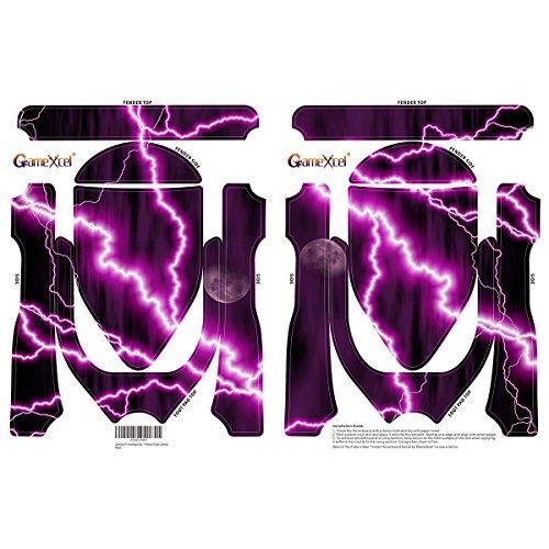 Elektro-Skateboards Elektro Scooter Self Balancing Scooter Aufkleber Elektroroller Roller Self Balance Board Sticker – Selbststabilisierendes Fahrzeug E-Board Schutzfolie Sticker Aufkleber – Purple Lightning von GameXcel ® - 2