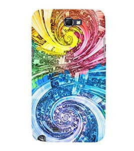 Printvisa Dual Elliptical Pattern 3D Hard Polycarbonate Designer Back Case Cover For Samsung Galaxy Note 2 :: Samsung Galaxy Note 2 N7100