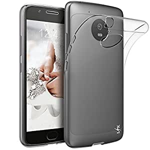 Custodia Moto G5, LK Case in Morbido Silicone di Gel Antigraffio in TPU Ultra [Slim Thin] Cover Protettiva - Trasparente