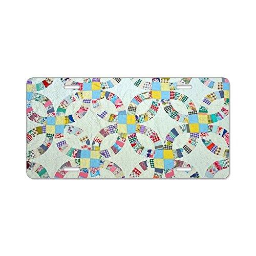 CafePress–Colorful Flickenteppich–Aluminium Nummernschild, vorne Nummernschild, Vanity Tag (Usa Kennzeichen License Plate Frame)