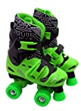 ELEKTRA Adjustable Quad Boot (Medium, Black/ Green)