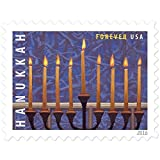 Hanukkah Usps Forever First Class Timbre U.S. Vacances Planche (20 Tampons) 1