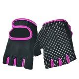 Dopobo Damen Gel Handschuhe Training Frauen Gym Fitness Handschuhe RadHandschuhe, rosa / schwarz