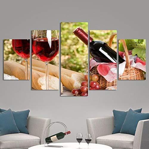 5 Stück HD Gedruckt Leinwanddrucke Ein perfekter Nachmittag Multi Panel Leinwand Wandkunst Bilder Leinwand Bilder Poster - Nachmittags Leinwand