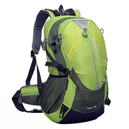 40L Outdoor Sport Rucksack Bergsteigen Tasche Reittasche Fahrradtasche,Pink Green