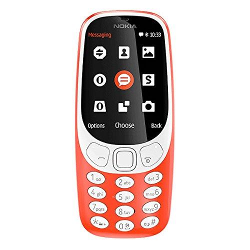 nokia a00028268 3310 telefono cellulare, memoria interna da 16 mb, rosso [italia]