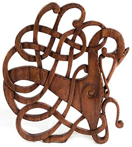 Windalf VINARTH - Cuadro de Madera (34 cm, Hecho a Mano), diseño de Caballo Vikingo