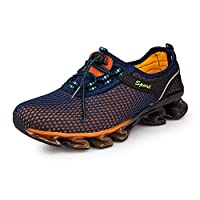 Gomnear Running Shoes Men Slip On Mesh Casual Breathable Fashion Stylish Sneakers Athletic Shoes, Darkblue-46