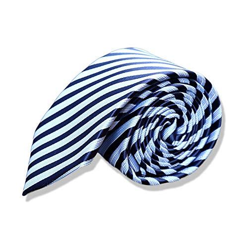 Preisvergleich Produktbild SEESUNGM Krawatte Männliche Business Casual Studenten Für Professionelle 7Cm Blauen Und Weißen Streifen Interviewt