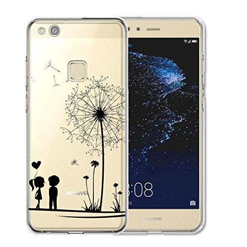 Huawei P10 Lite Hülle Silikon , TUTUWEN Transparent Handyhülle Schutzhülle TPU Clear Case Backcover Bumper Slimcase Etui Tasche für Huawei P10 Lite